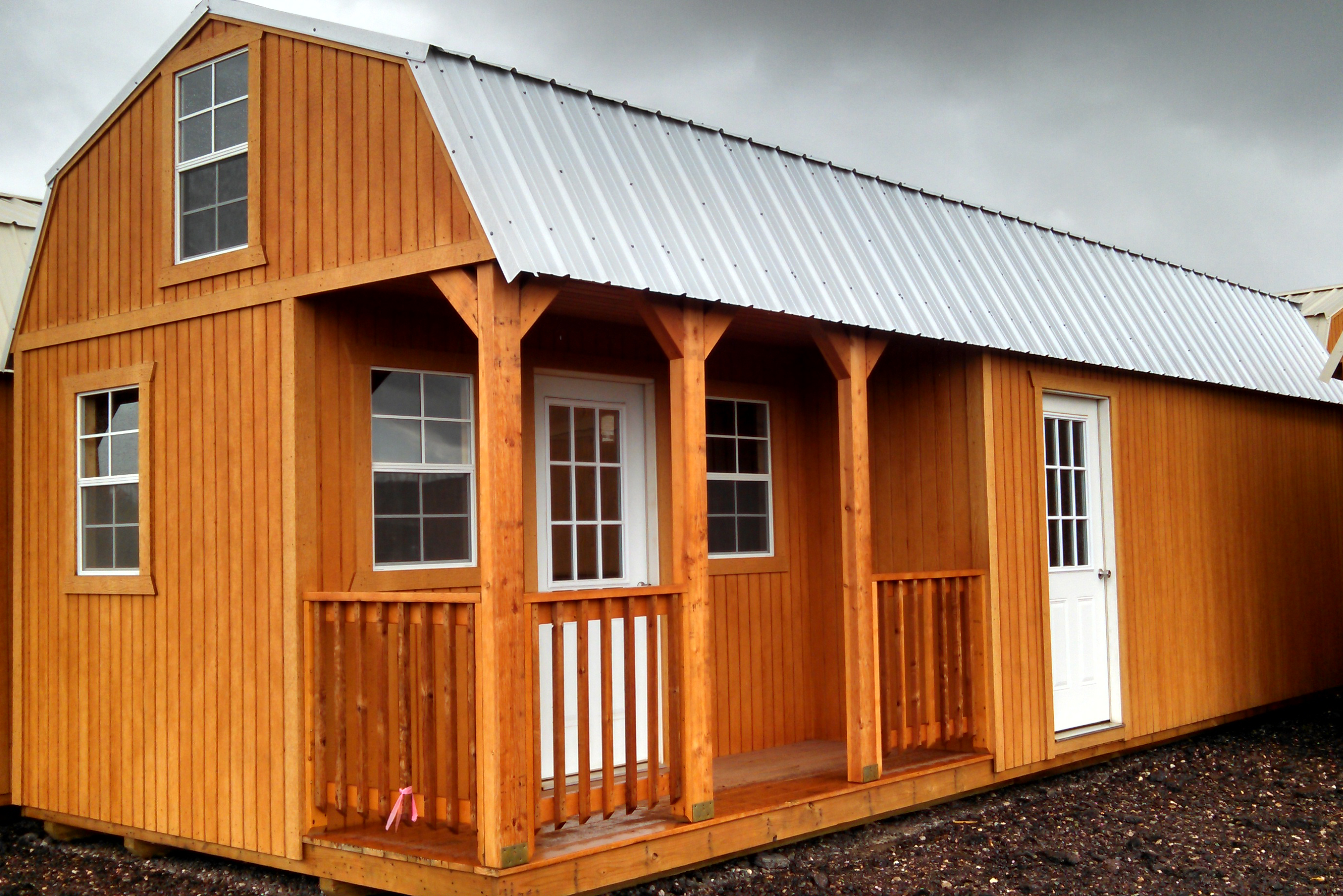 wk custom side lofted barn cabin jpg