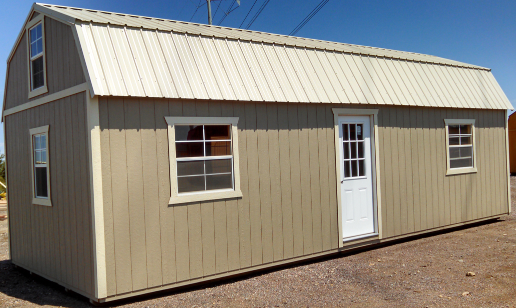 12x24 Portable Storage Building : Customized side lofted barns
