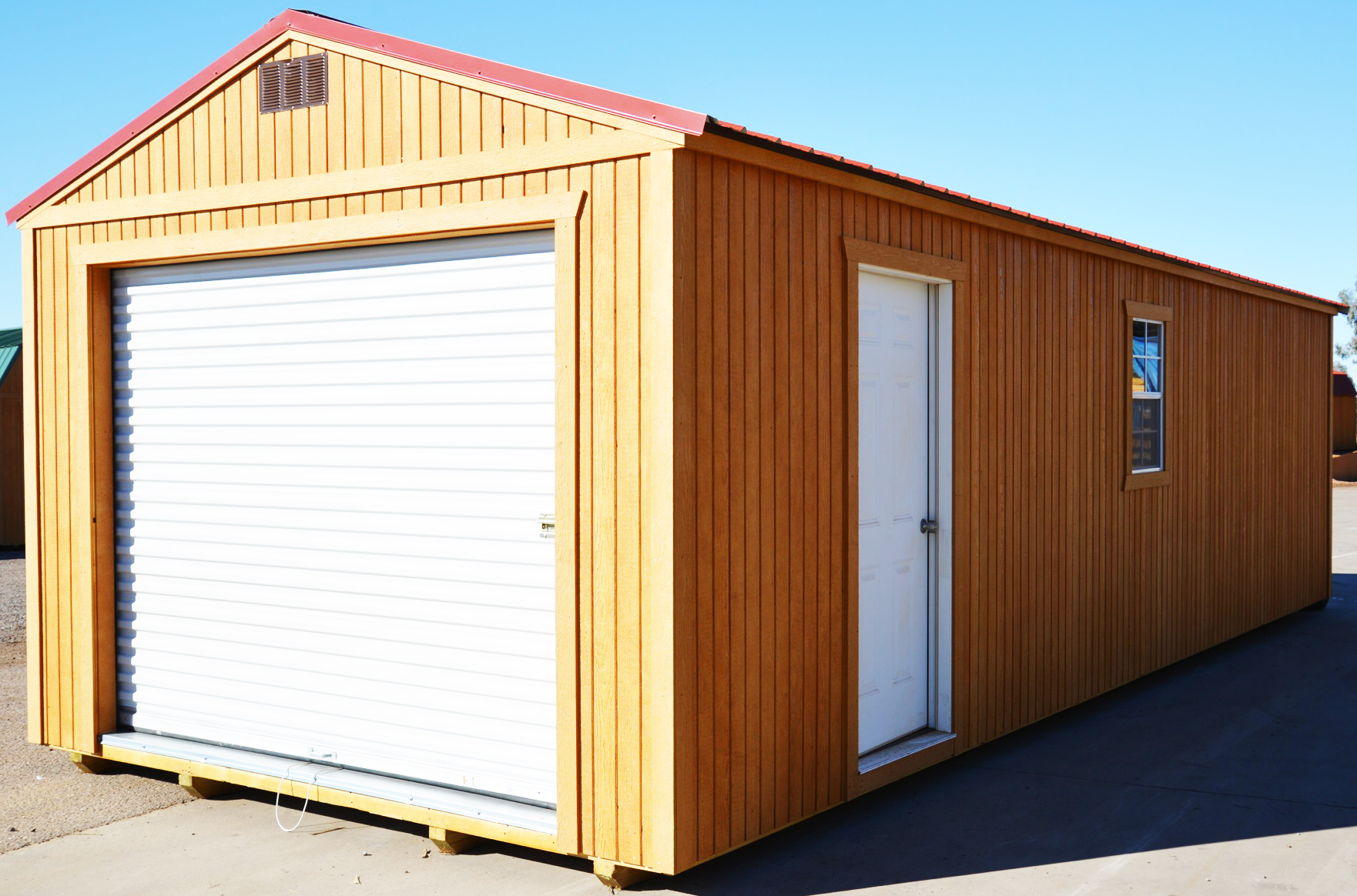Portable garage for Storage shed overhead door