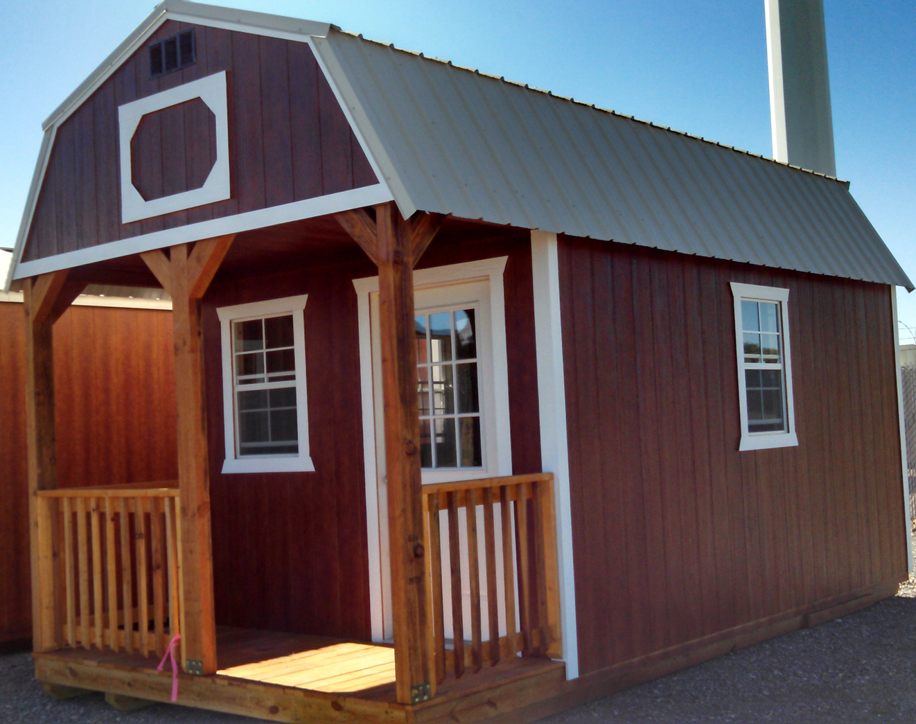 Side lofted barn for Shed with loft and porch